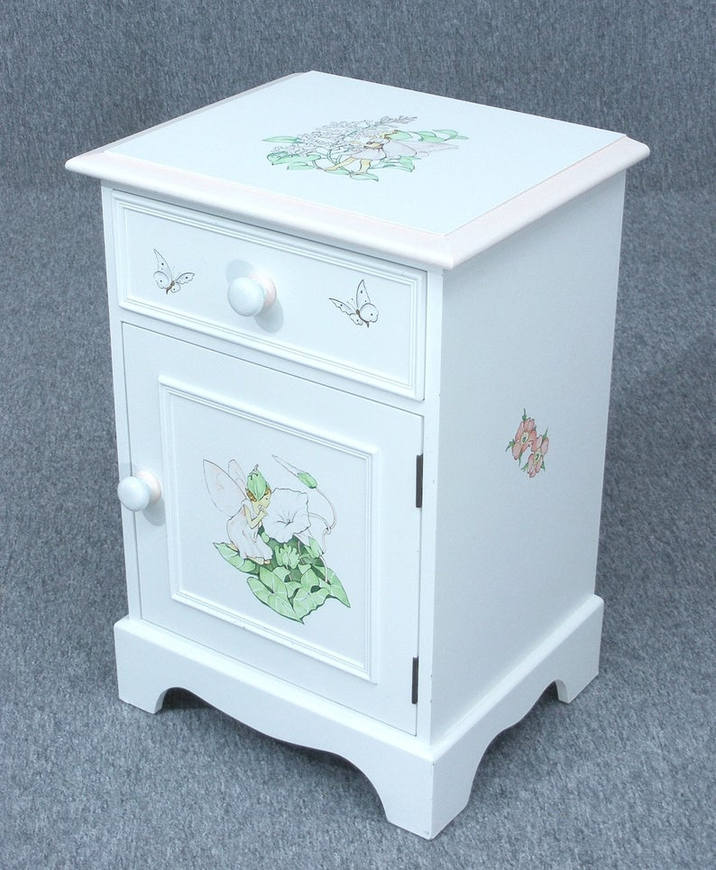 Bedside Cupboard Dragons Of Walton Street Flower Fairy Hand Painted Cupboard Child S Bedside Cabinet Delivery Available Painted Cupboards Walton Street Bedside Cupboard