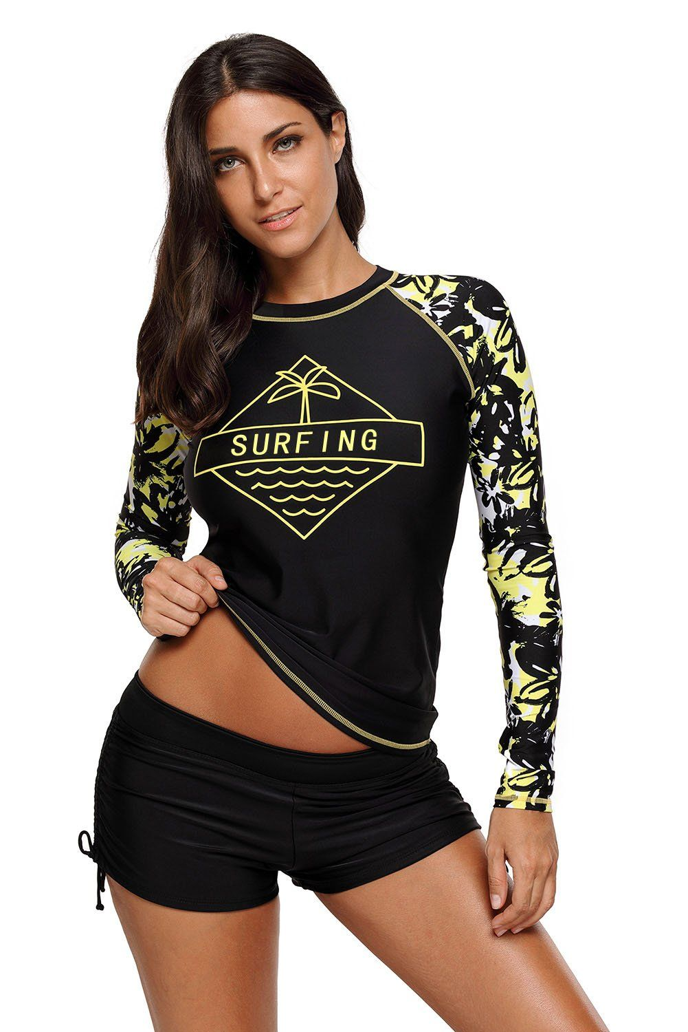 66ce43a633786 Surfing the Holiday Long Sleeve Rashguard Top. Surfing the Holiday Long  Sleeve Rashguard Top Tankini Top