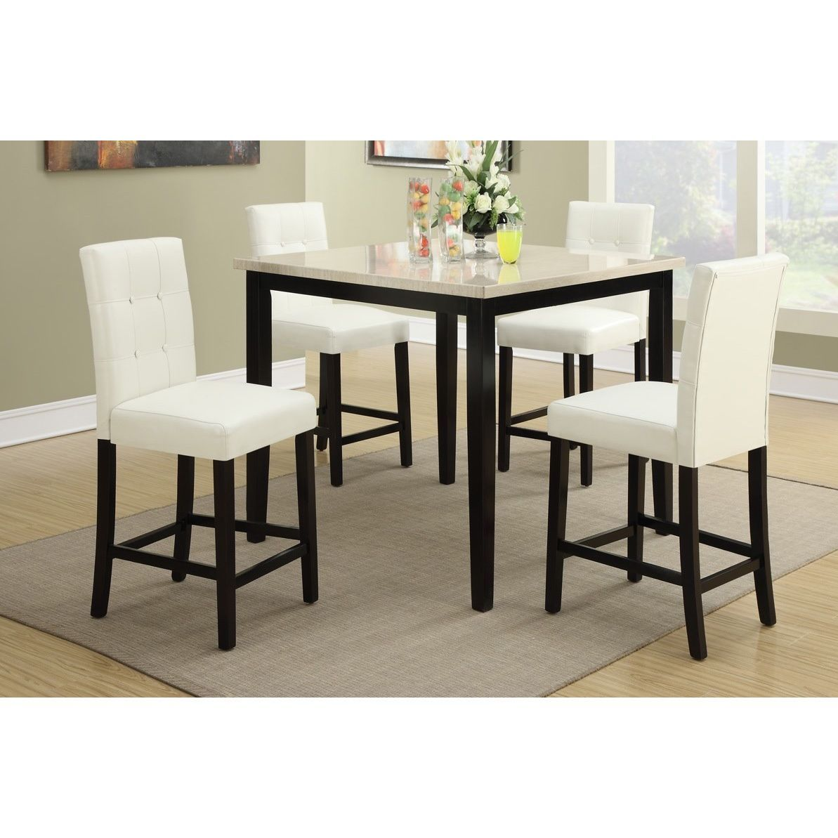 Willow white cream ivory dining chairs set of 4 rubberwood