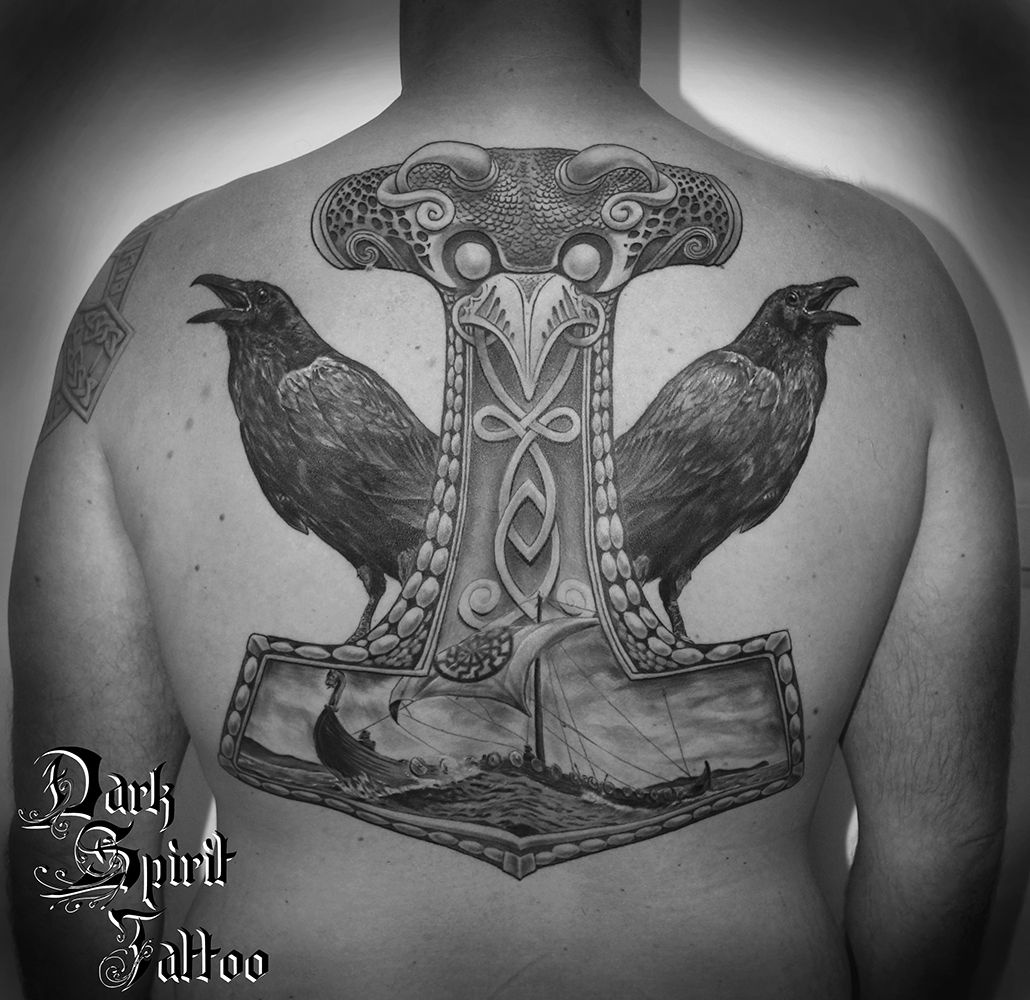 tatoueur francais perpignan thor hammer tattoo tatouage. Black Bedroom Furniture Sets. Home Design Ideas