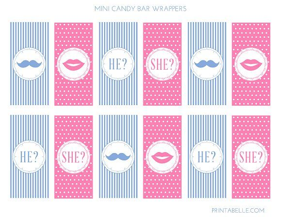 Download These Cute Free Gender Reveal Printables Free Baby