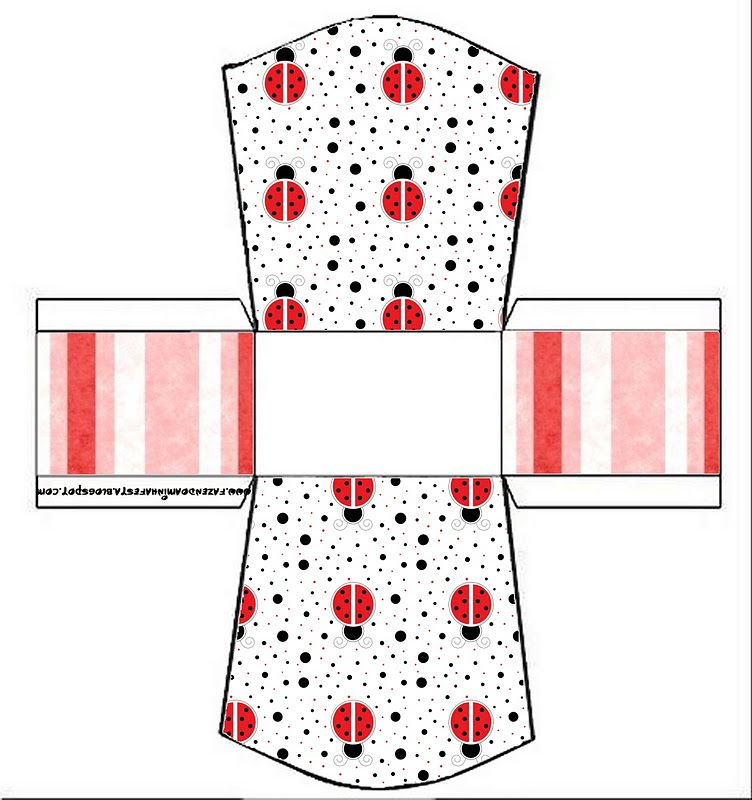 Lovely Ladybugs Free Printable Party Boxes.