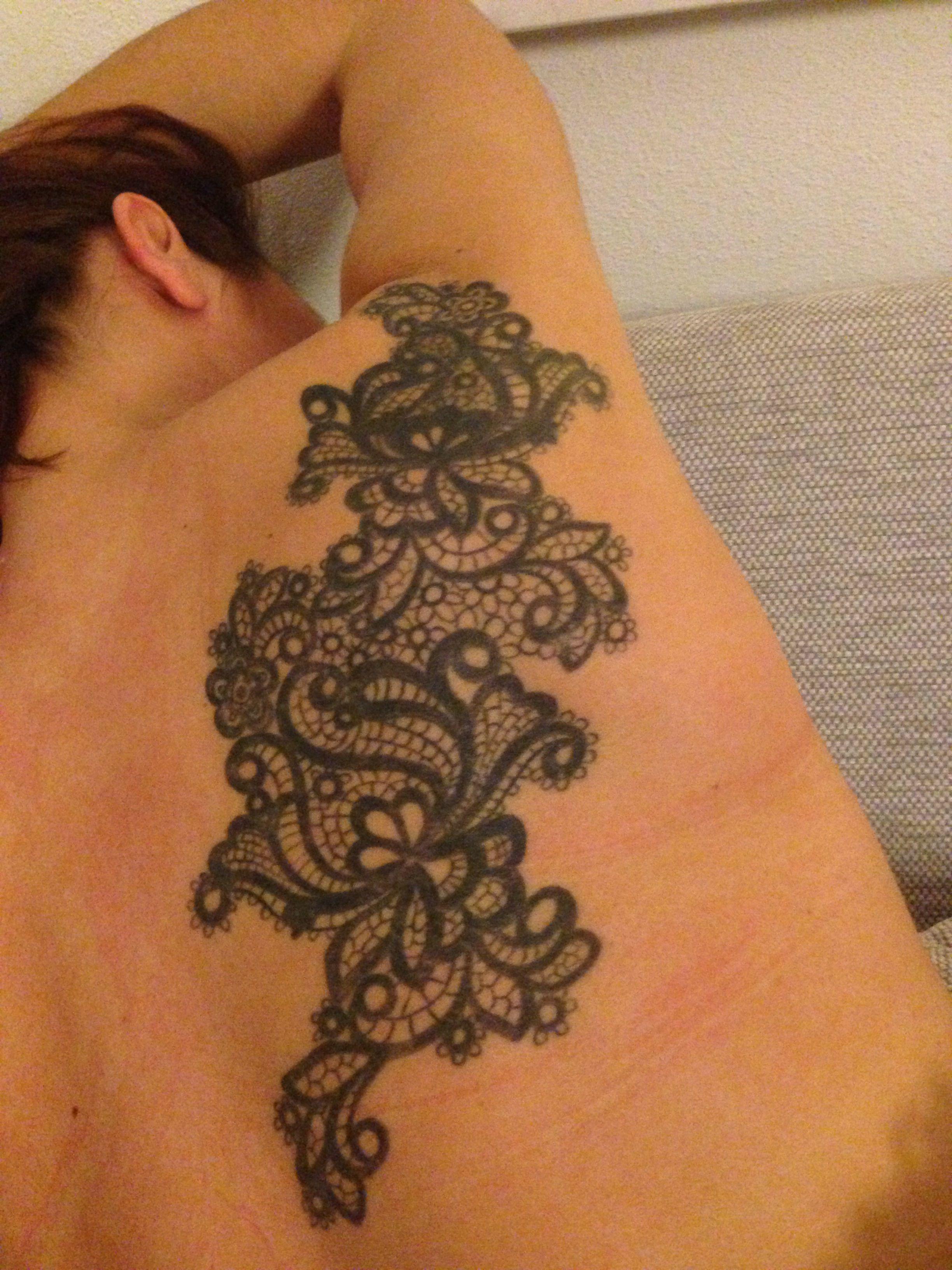 Mehndi Lace Tattoo : Lace tattoo love tattoos and