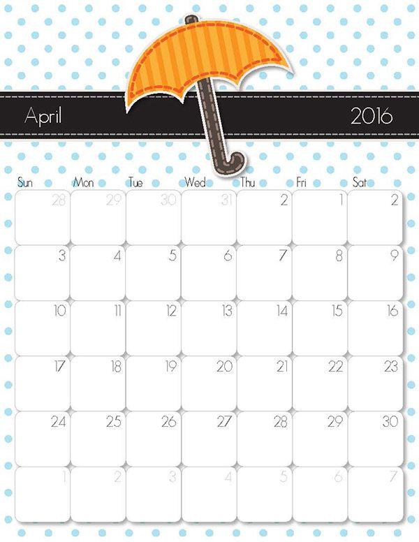Whimsical 2018 Printable Calendar 2016 Calendar Free Printable