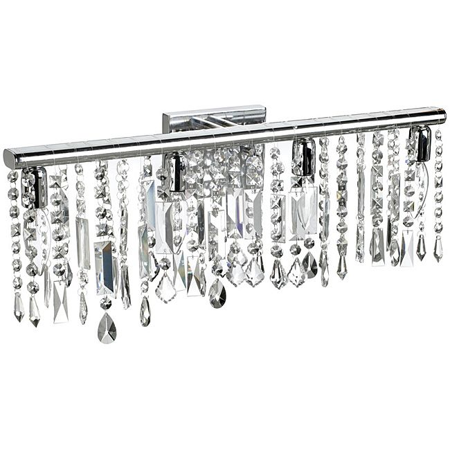 Diy Crystal Vanity Light Shades Cuckoo4design Crystal Bathroom