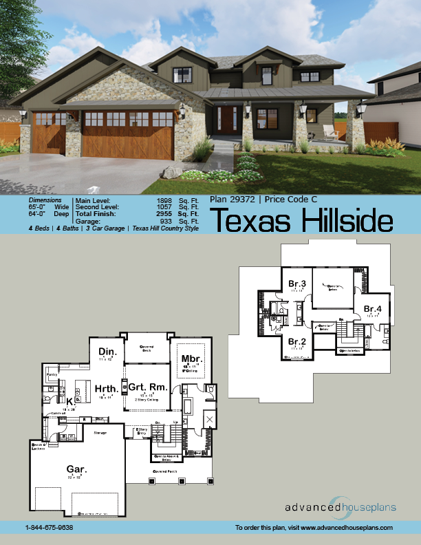 1 5 Story Craftsman Plan Texas Hillside Tuscan House Plans Tuscan House House Plans