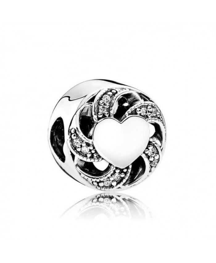 Pandora Ribbon Heart Charm