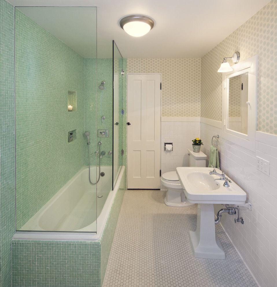 Baroque tub enclosures in Bathroom Traditional with Vintage 1940\'s ...