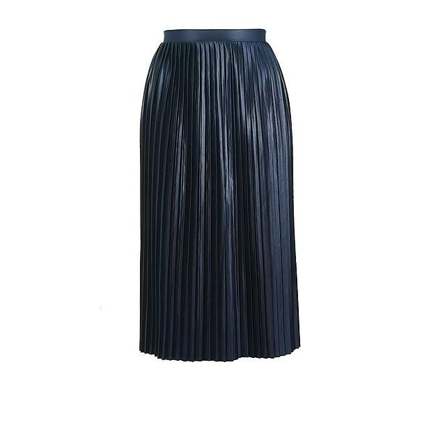 3c1847a09792ab  Topshop  plissé  rok  wehkamp  blue  shiny  plisse  skirt  midi  shine   night  dark