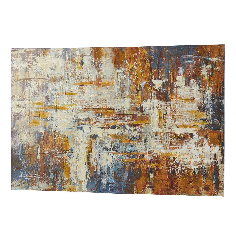 Mercury Row Metallic Painting Print on Wrapped Canvas