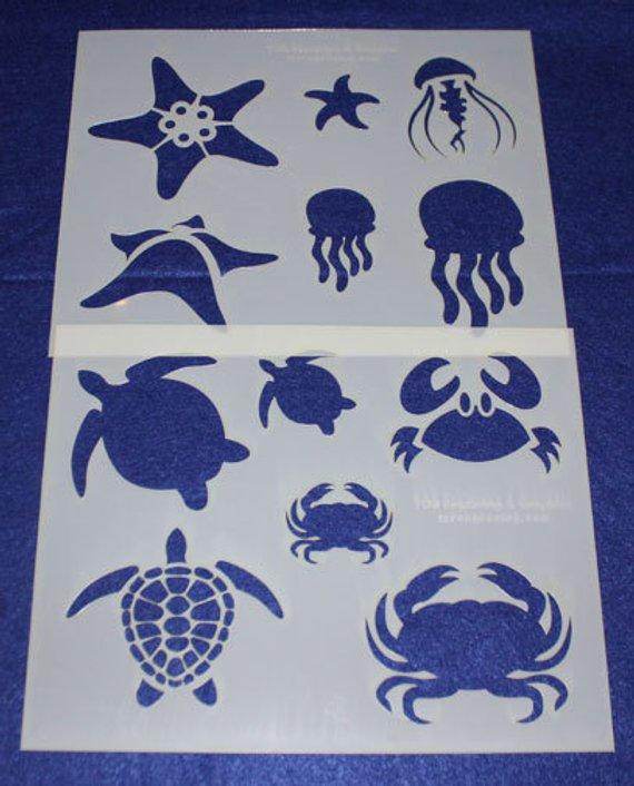 Crab SEA Life Mylar AIRRUSH Painting Wall Art Stencil