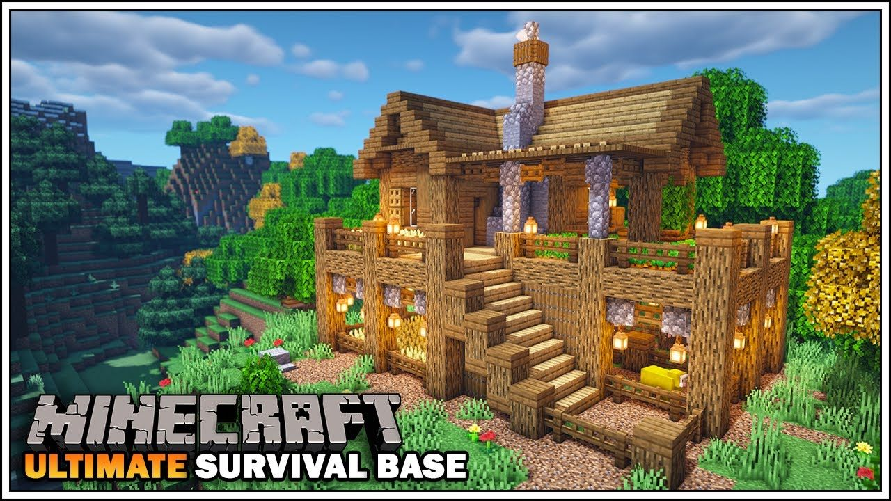 Ultimate Minecraft Starter Survival Base With Everything You Need To Sur Minecraft Survival Minecraft Houses Survival Minecraft Starter House