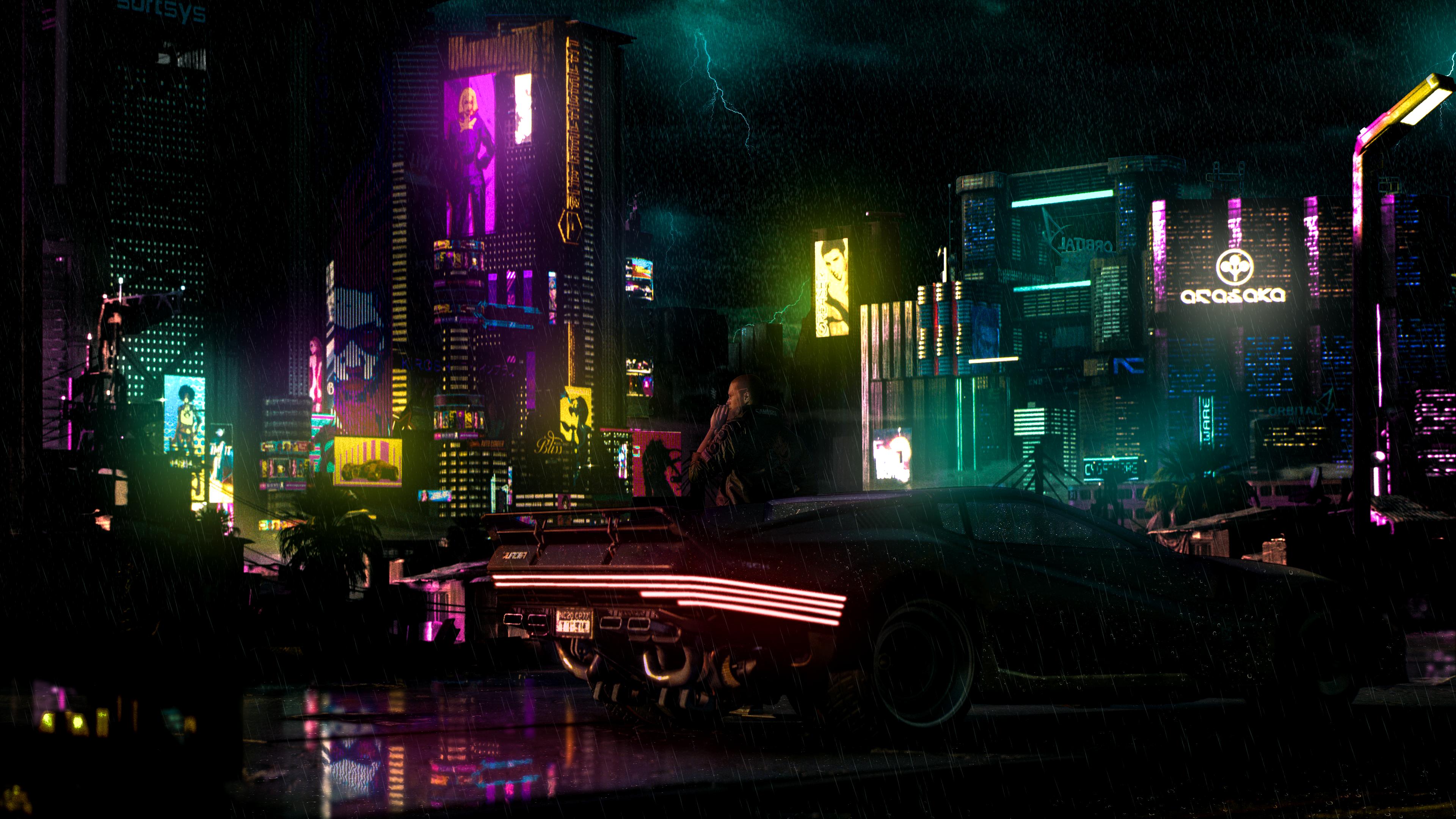 Cyberpunk 2077 4k Wallpaper Reddit Trick In 2020 Background Images Wallpapers Wallpaper Rain Wallpapers