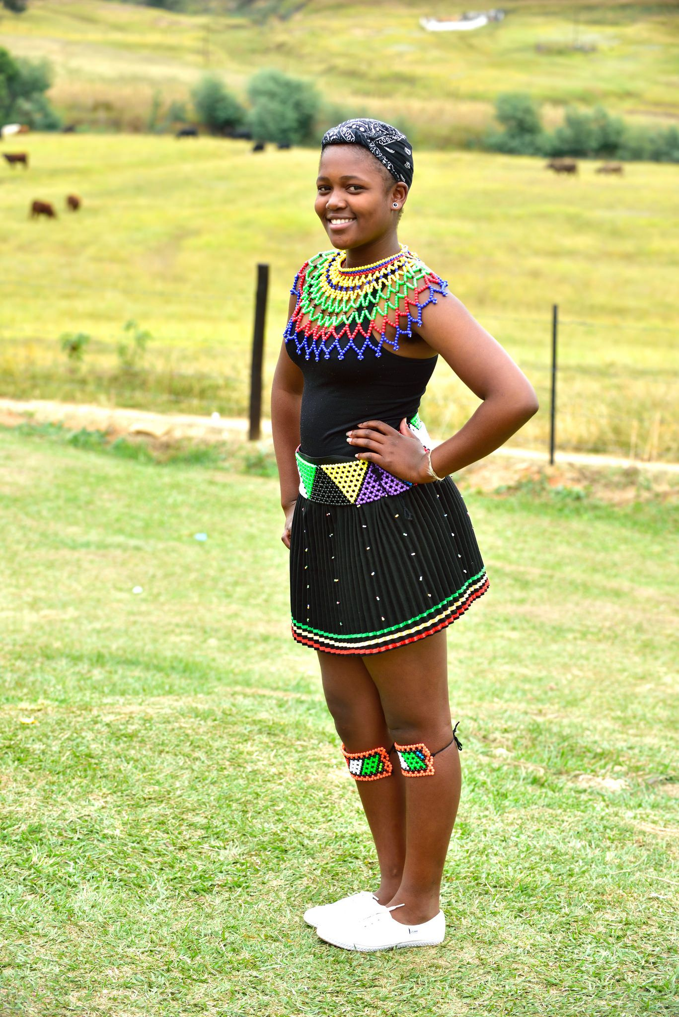 Zulu girls attend Umhlanga, the annual Reed Dance festival
