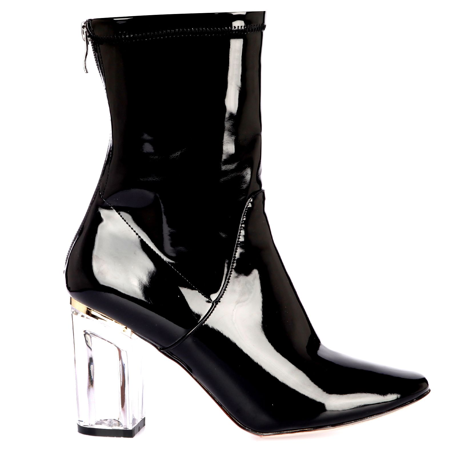 543b0cfb3 Chloe Ankle Boots In Black Patent pvc shiny party | beautiful thing ...