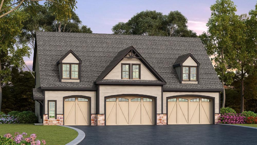 Plan 29870rl Residential 5 Car Detached Garage Plan In 2021 Garage Plans Detached Carriage House Plans Garage House