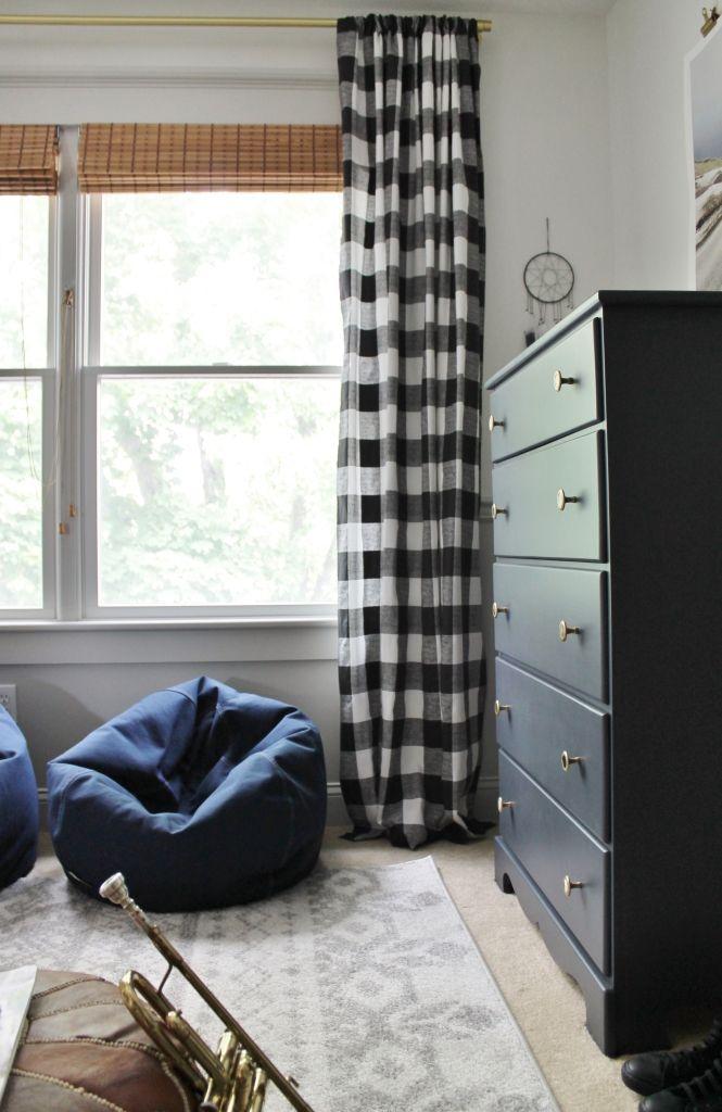 Rustic Tween Room Reveal City Farmhouse Boys Room Curtains
