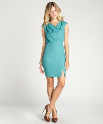 Marc New York: sage cowl neck stretch crepe dress
