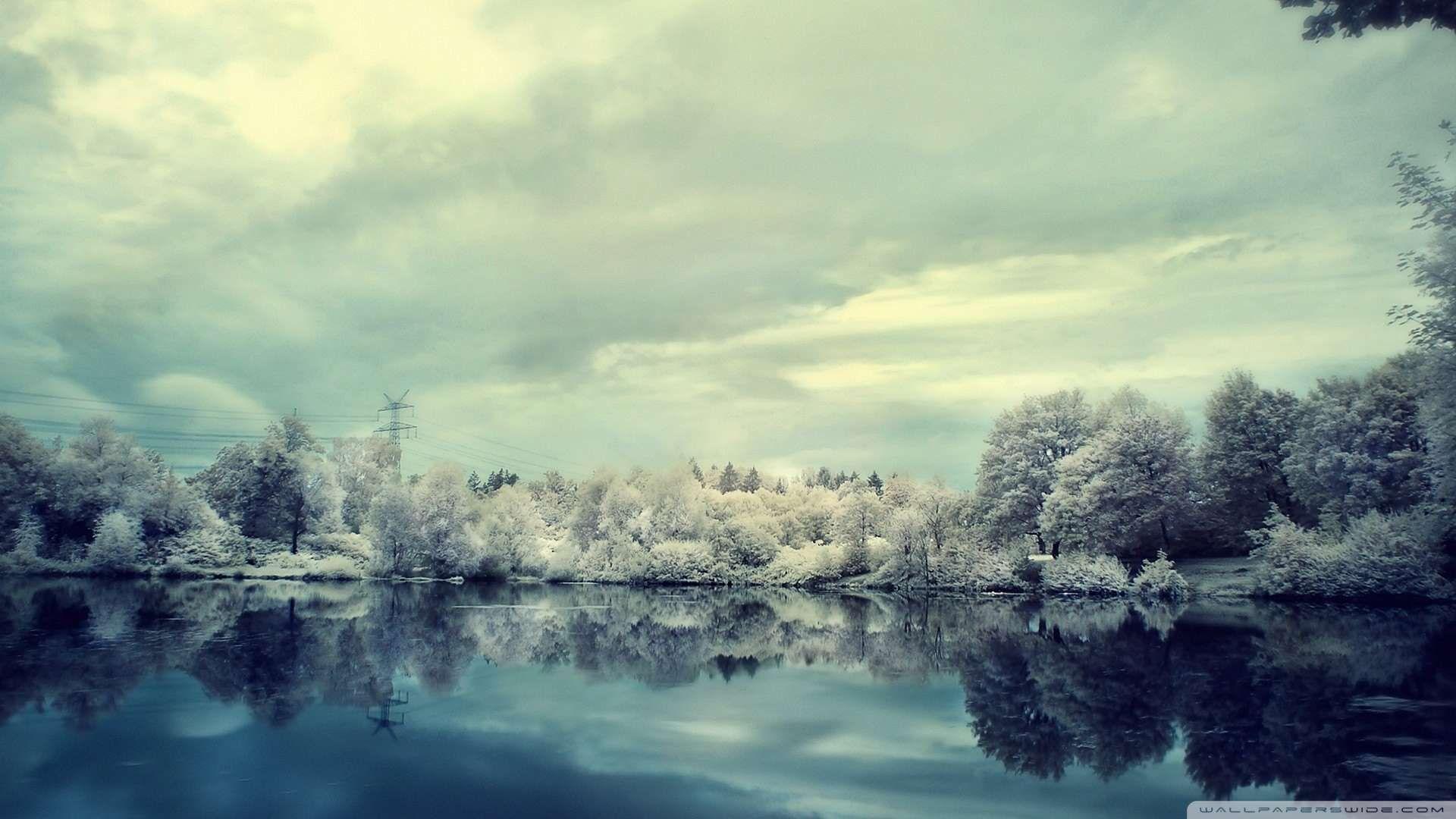 Beautiful Frozen Landscape Wallpaper 1080p Hd Landscape Wallpaper Winter Landscape Landscape Background