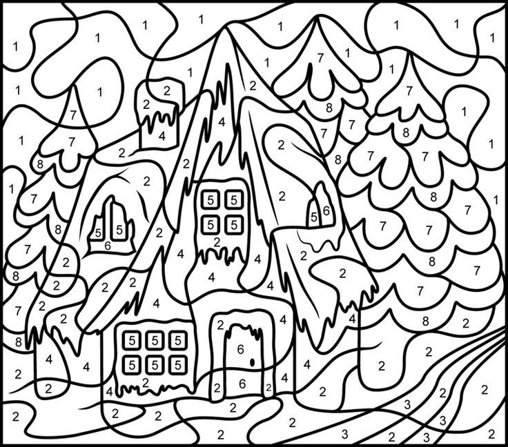 Free Printable Color By Number Coloring Pages Best Coloring Pages For Kids Christmas Color By Number Coloring Pages Color By Number Printable