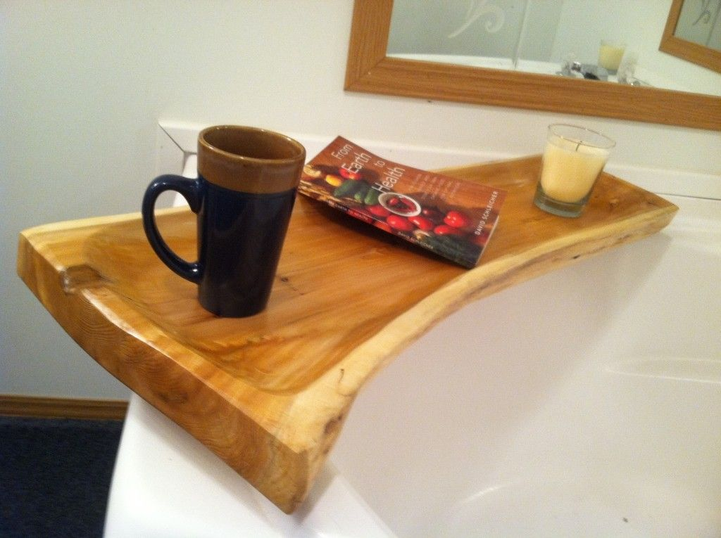 Ideas: Bath Caddy Wooden Bathtube Tray Oak Wood Bathtube Tray Diy ...