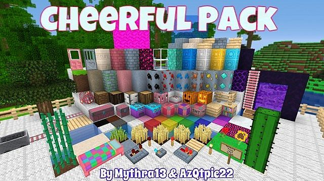 Mythra's Cheerful Resource Pack - minecraft resource packs : This is a 16×16 texture pack that he drew most of the inspiration for this pack  ...  #resource #packs   http://niceminecraft.net/category/minecraft-resource-packs/