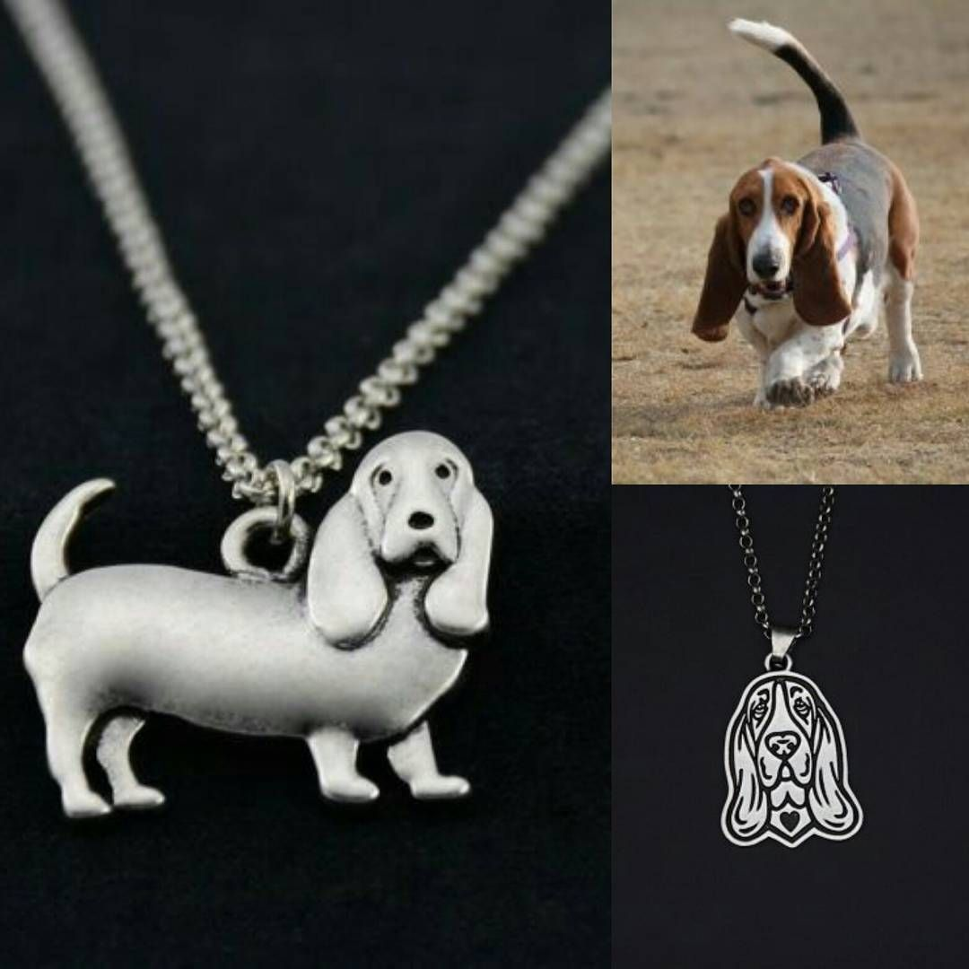 "BASSET HOUND DOG PENDANT NECKLACE WITH 18/"" SILVER CHAIN DOG LOVERS GIFT"