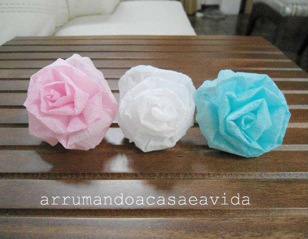 Como Fazer Um Arranjo De Flores De Papel Crepom Bola De Flor De