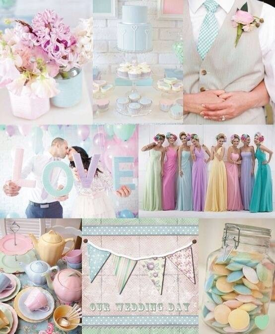 Pastel Wedding Theme Like The Idea Diff Style And Colour