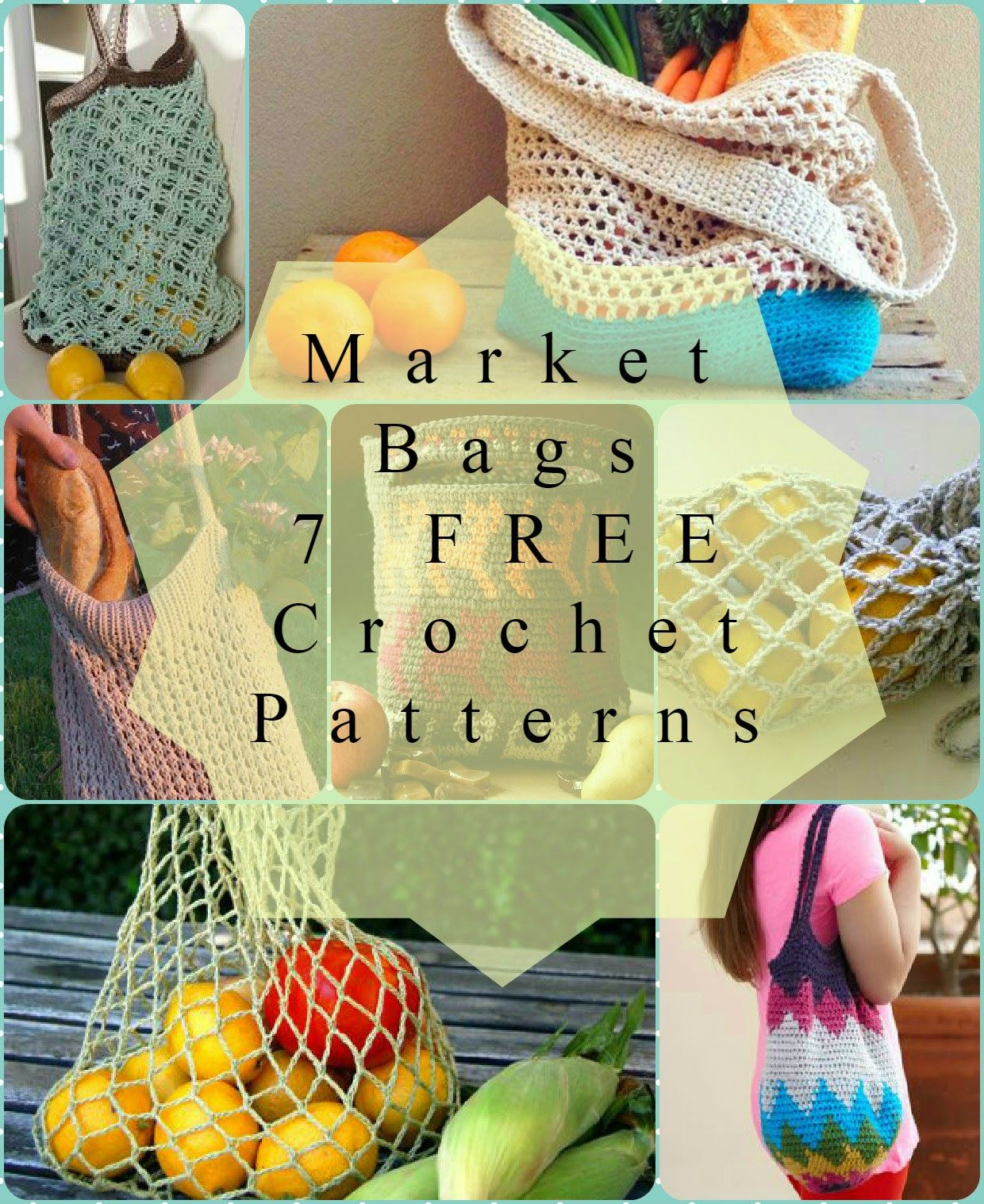 Crochet Market Bags ~ 7 FREE Patterns | Bolsos crochet | Pinterest ...