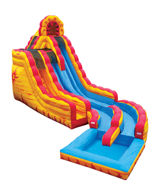 Fire Ice 2 Story Inflatable Water Slide Monroe Trumbull Easton Redding Inflatables Water Slide Kids Water Slide Water Slide Rentals Inflatable Water Slide