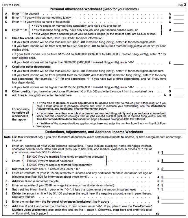 The 11 W11 Form and How to Complete It | Married filing ...