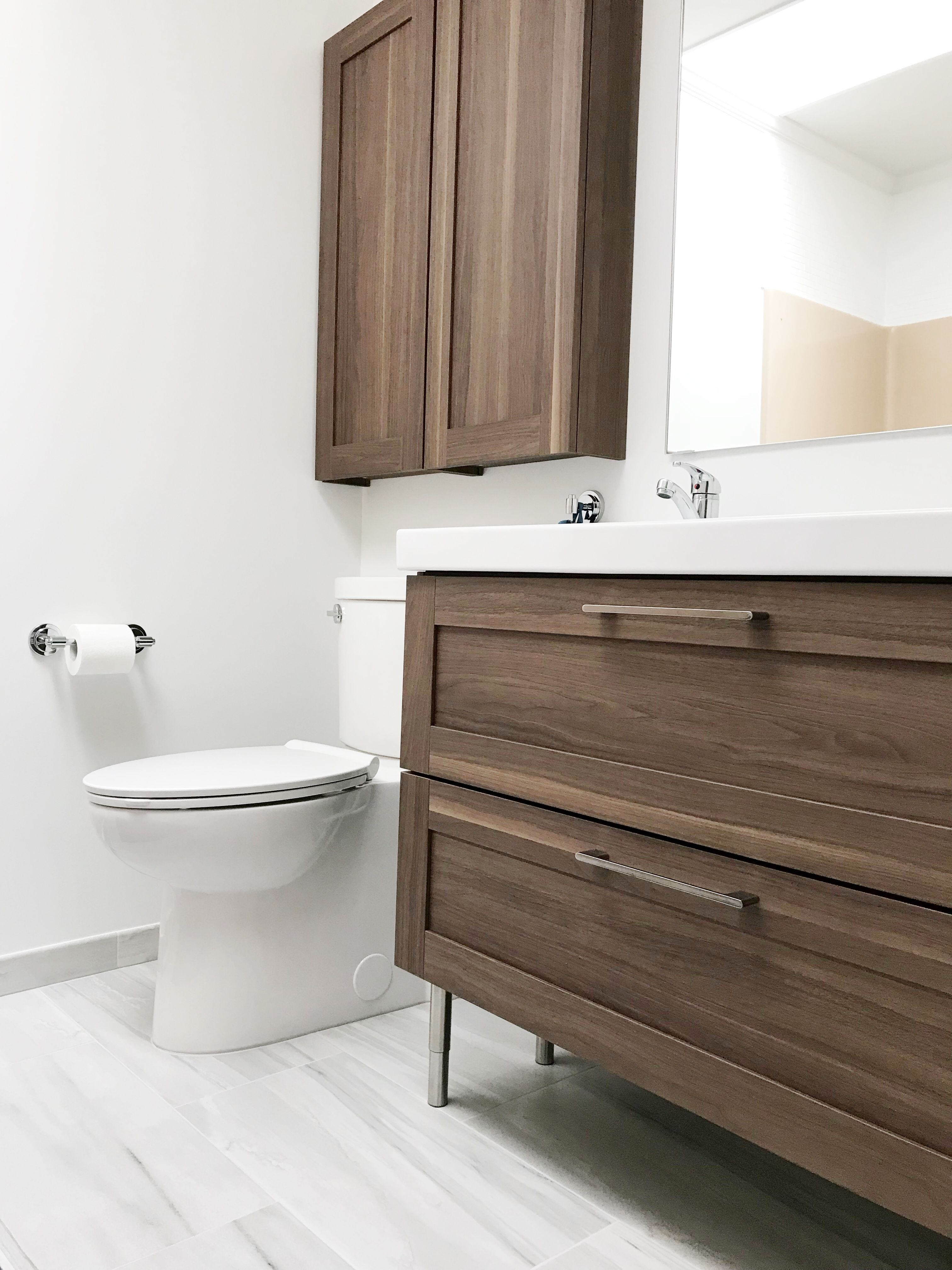 Ikea Godmorgon Walnut Double Sink Wall Cabinet With Images