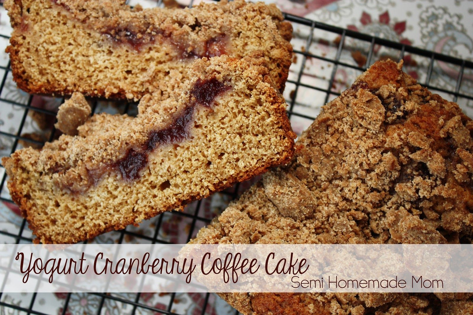Yogurt Cranberry Coffee Cake - the BEST coffee cake for dunking!!
