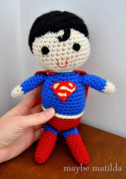 Crocheted Superman Maybe Matilda Crochet Pinterest Crochet, Amigurumi a...
