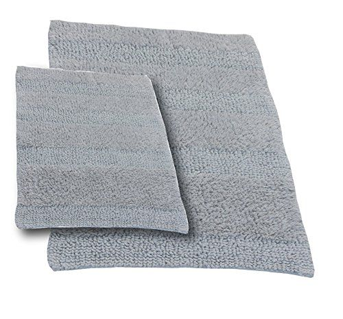 Bathroom Rugs Ideas Castle Hill Chbr17x2420x30wcut2pcssil 2piece Bath Rug Sets 17 By 24inch20 30inch Silver For More Information Visit Image Link