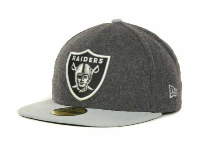 Oakland Raiders NFL Melton Basic 59FIFTY Cap Hats
