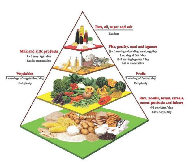 The Malaysian Food Pyramid Download Scientific Diagram Piramid Makanan Chicken And Shrimp Recipes Malaysian Food