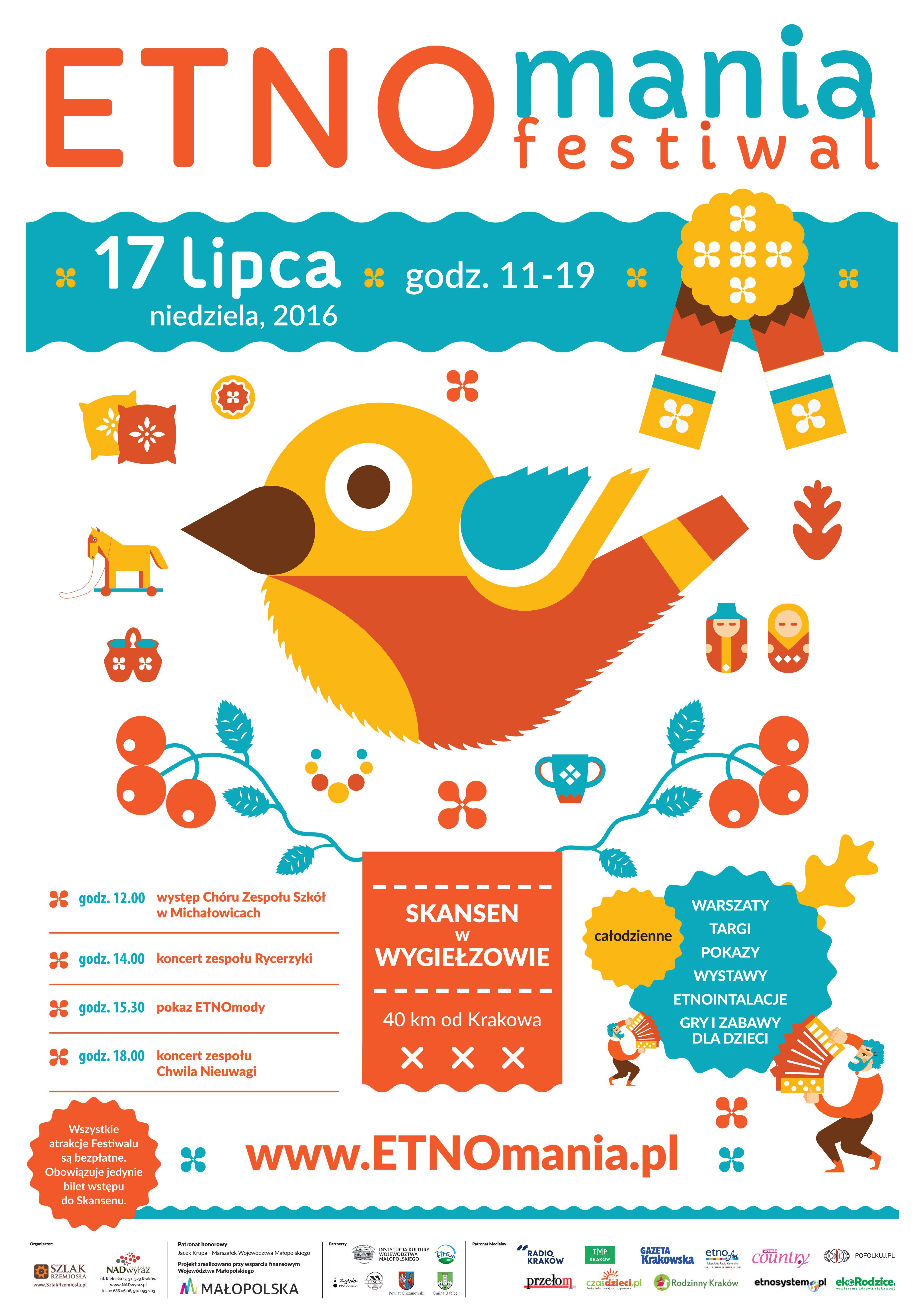 Jesteśmy na Etnomanii! Serdecznie zapraszamy 17 lipca do Wygiełzowa, podczas imprezy można wygrać ciekawe nagrody, m.in. nocleg w naszym hotelu :) Więcej na www.etnomania.pl