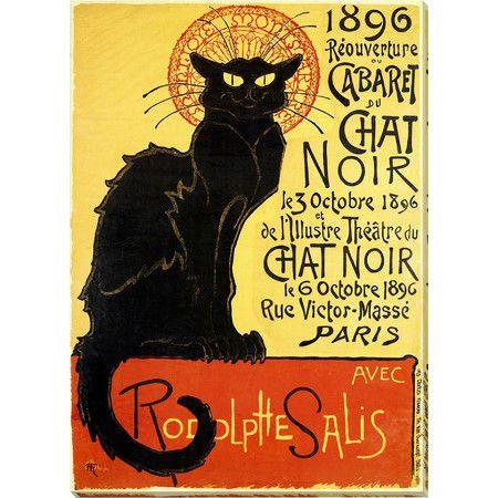 Chat Noir FRIDGE MAGNET 11x15 Vintage Rodolptte Salis Magnetic Poster