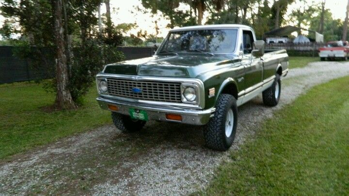 1972 Chevy K20 Long Bed 4 Speed Manual Transmission Chevy Classic Trucks Chevy 4x4