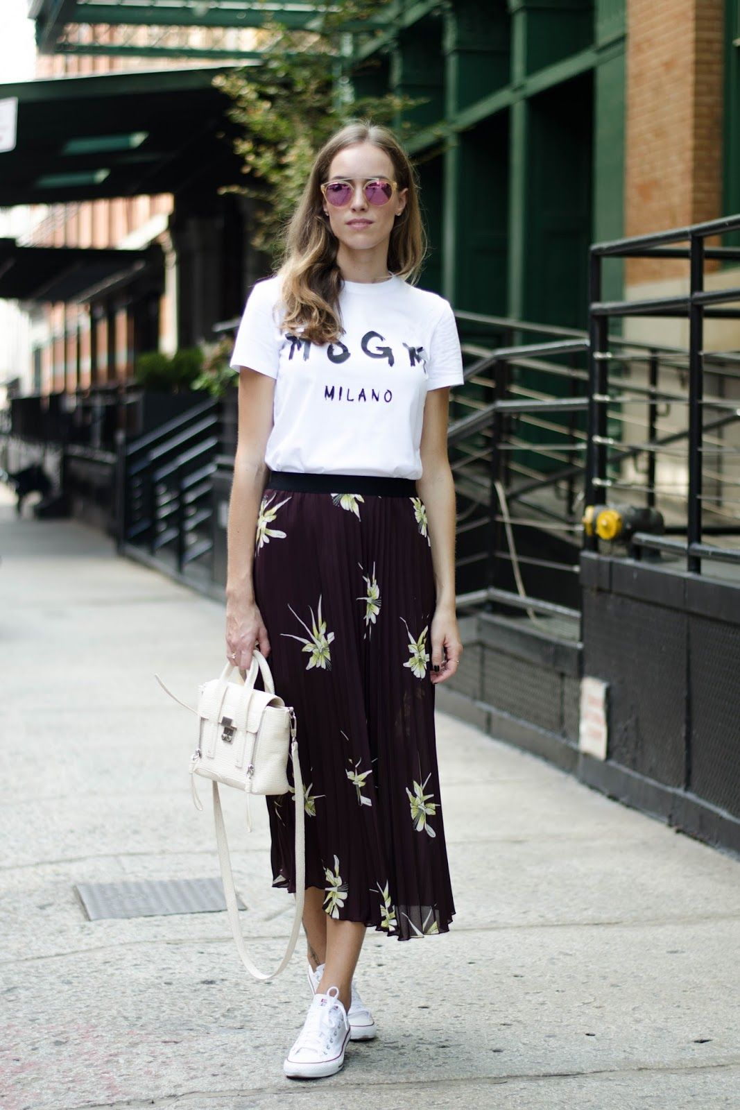 skirt with trainers