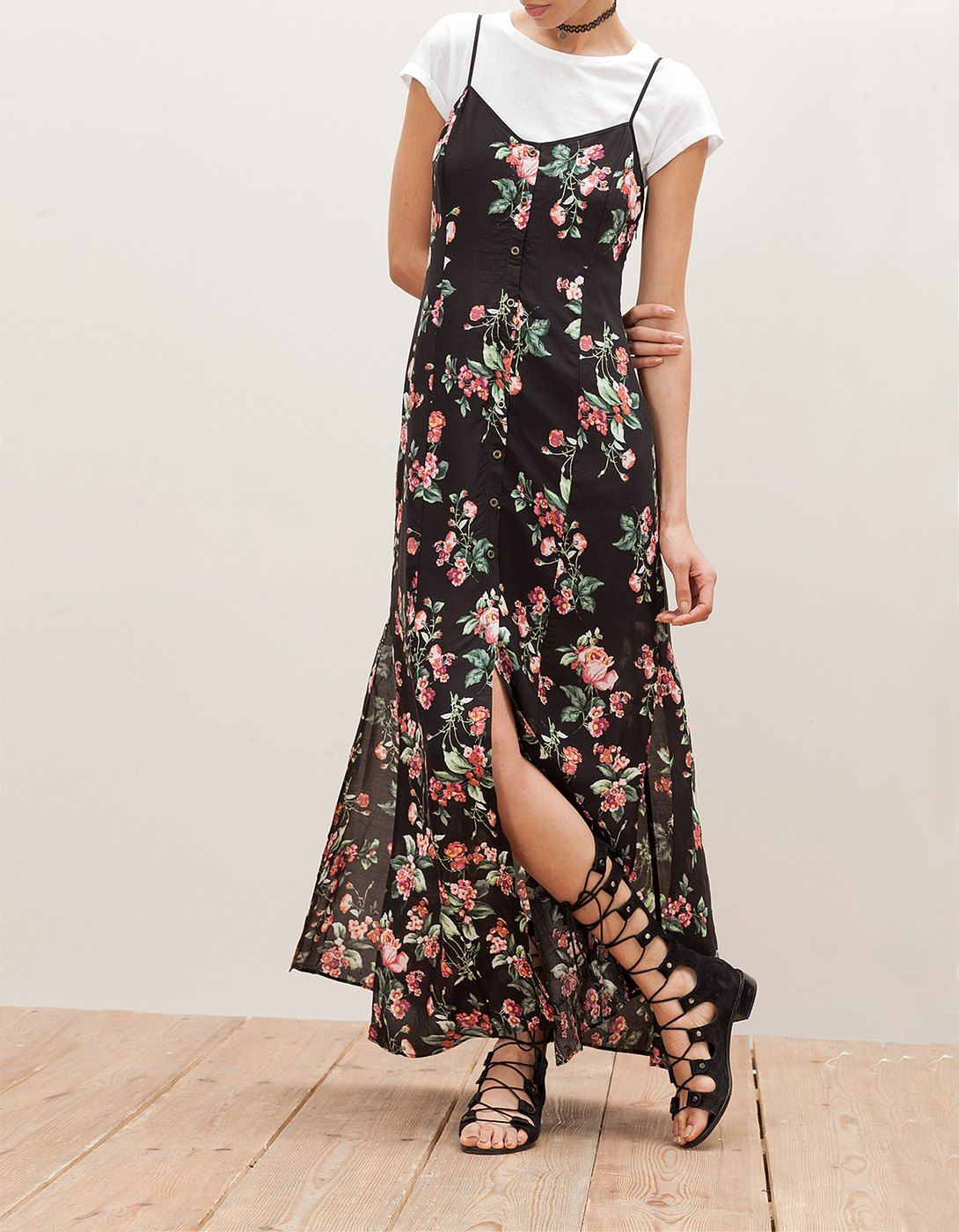 94ff808fd359e At Stradivarius you'll find 1 Long dress with buttons for woman for ...