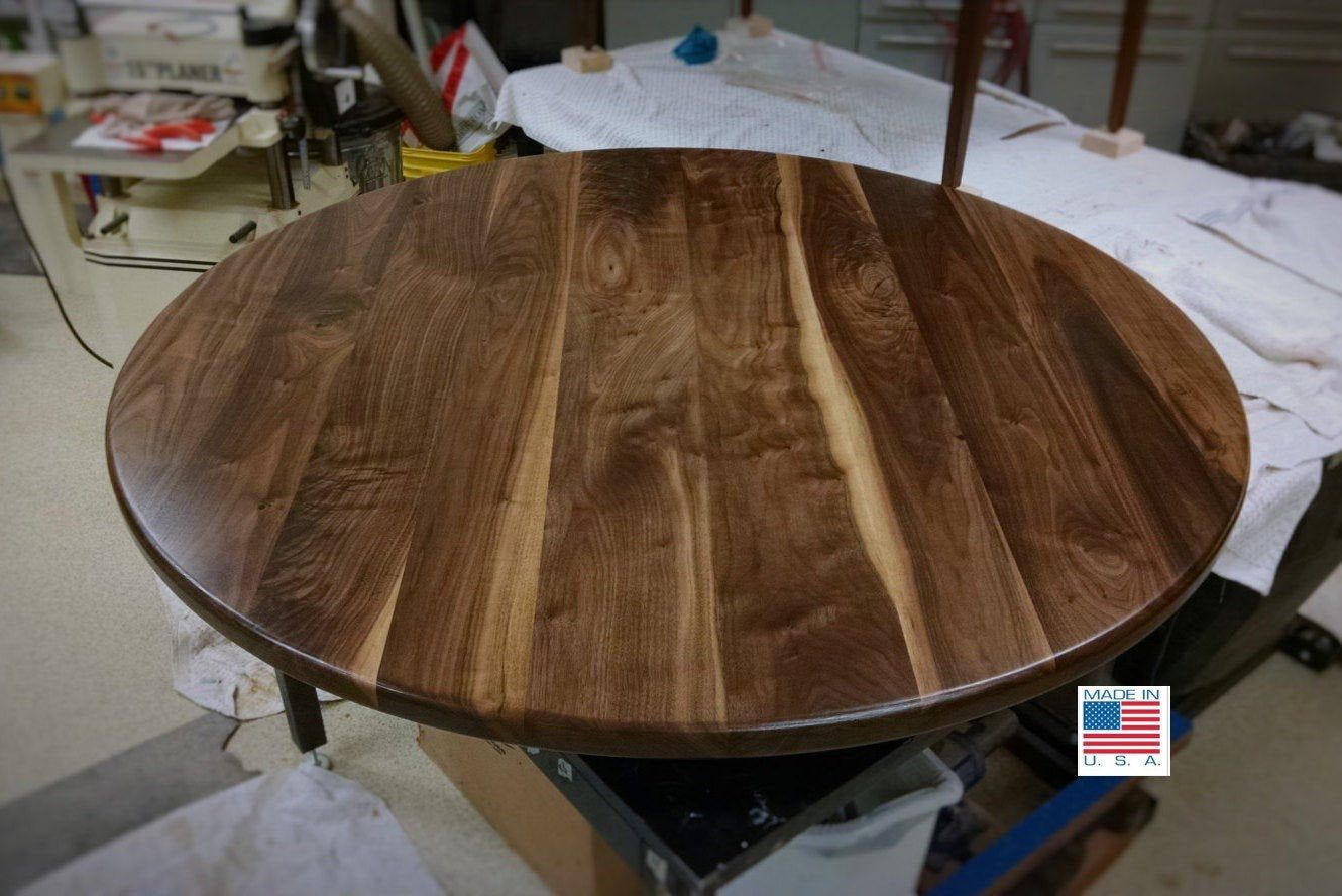 Round Walnut Table Top 36 42 Solid Black Walnut Wood Dining Coffee Cocktail Conference Kitchen Restaurant Breakfast No Base By Select
