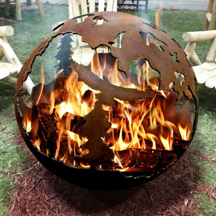 Rustic Fire Pit Globe. Great Idea For The Fire Pit In The