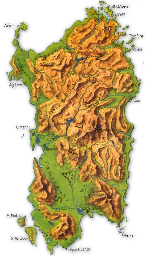Cartina Sardegna Grande.Cartina Jpg 500 881 Sardegna Sardegna Italia Luoghi Di Vacanza