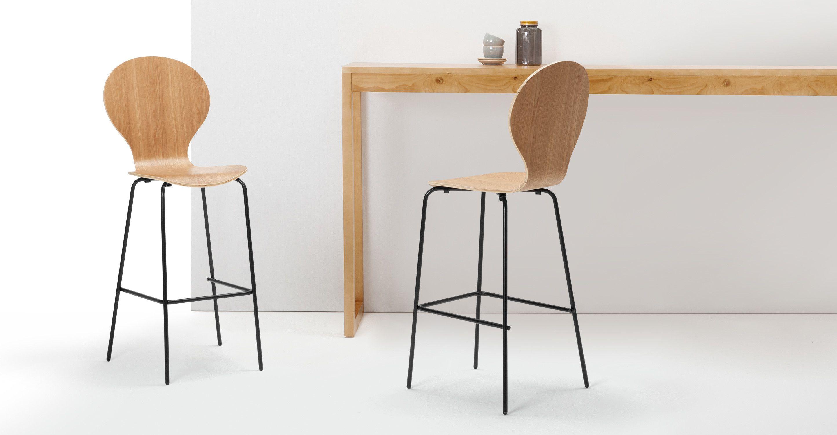 2 X Kitsch Barhocker, Esche Und Schwarz ▻ Neues Design Für Dein Zuhause!  Entdecke Jetzt Hocker U0026 Barhocker In Vielen Styles Bei MADE.