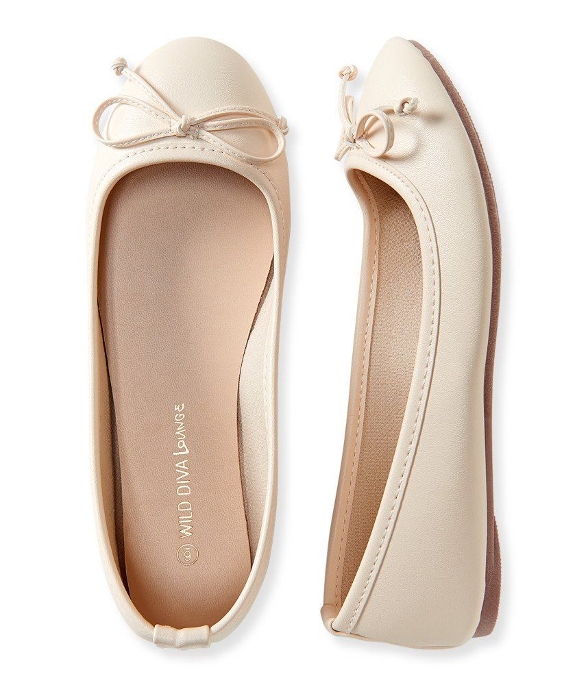 bfcb9645f Aeropostale Women's Faux Leather Classic Ballet Flat in Cream ...