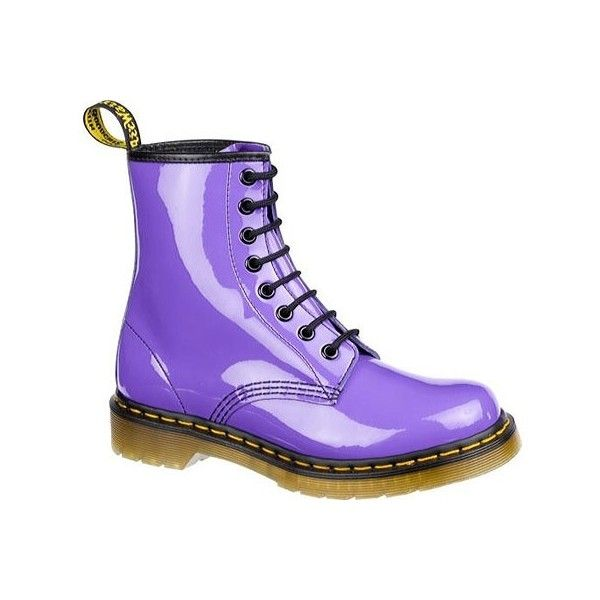 Dr Martens 1460 8 Eye Boot Patent Lamper Pastel Colors Nitrolicious Com Found On Polyvore Purple Boots Boots Dr Martens Boots