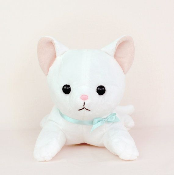 PDF sewing pattern - Cat stuffed animal - large kawaii laying feline ...